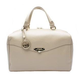 Versace Collection Leather Borsa Giorna Satchel Handbag - Tan - S