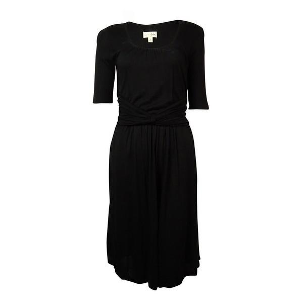 Maison Jules Women's Faux Knot Pocket Knit Jersey Dress