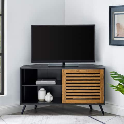 Carson Carrington Saltor 44-inch Sliding Slat Door Corner TV Console