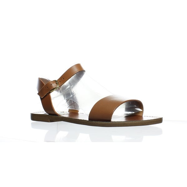 bc18ea4571a Shop Steve Madden Womens Donddi Tan Leather Ankle Strap Flats Size ...