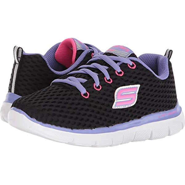 bca5789a8b324 Shop Skechers Kids Womens Skech Appeal 2.0 Fresh N Fun 81688L (Little Kid/Big  Kid) Black Suede/Gray Trim 6 Big Kid M - Free Shipping Today - Overstock -  ...