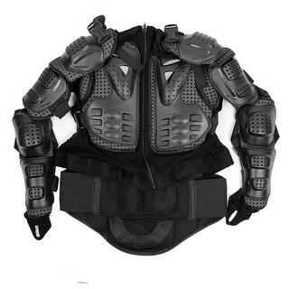 Men Motorcycle Off-road Protective Gear Armor Clothing Black Jacket XL