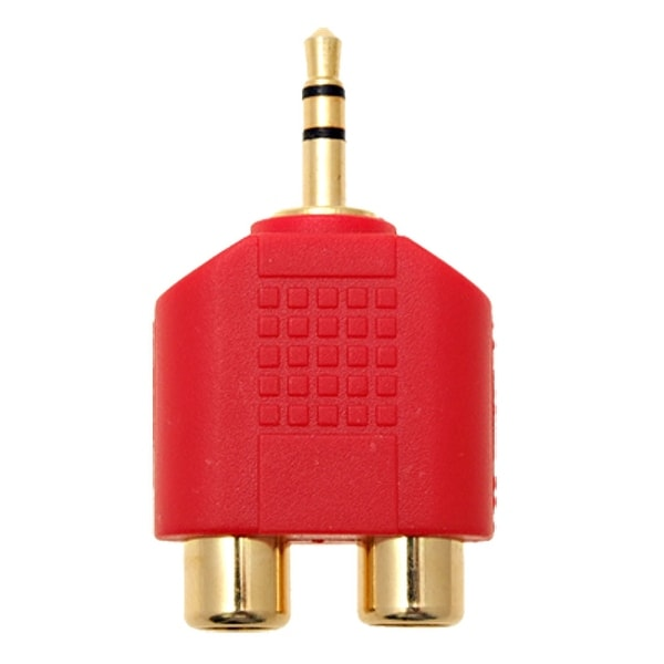 Unique Bargains Male 3.5mm Plug to 2 RCA Female Jack Converter Adapter