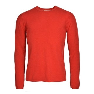 Inhabit Bright Red Cashmere Crewneck Pullover Sweater Medium M Lightweight