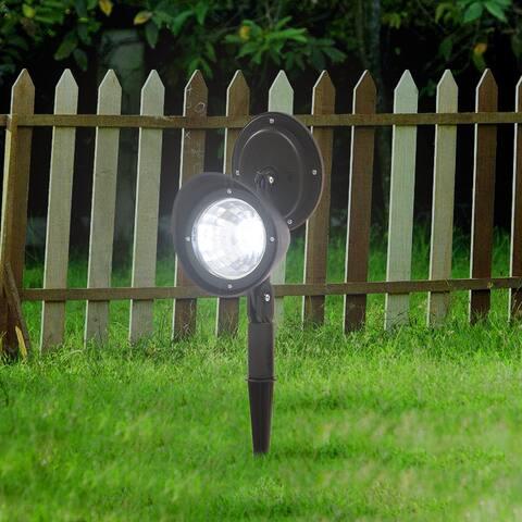 2pcs Solar Landscape Spotlight LED Lighting Plastic for Outdoor Garden