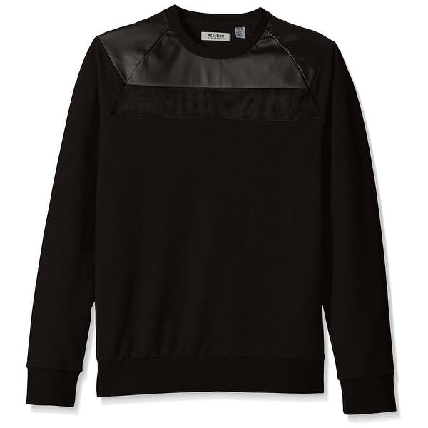 de25f011 Kenneth Cole Reaction NEW Men's Black Size XL Faux-Leather Yoke. Click  to Zoom