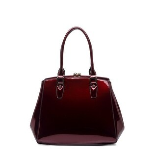 Style Strategy Prudence Patent Leather Bag Wine
