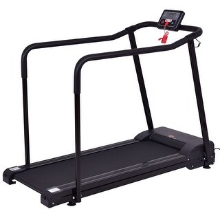 Goplus Electric Treadmill Walk To Fitness For Olders w/ Extra-long Handles