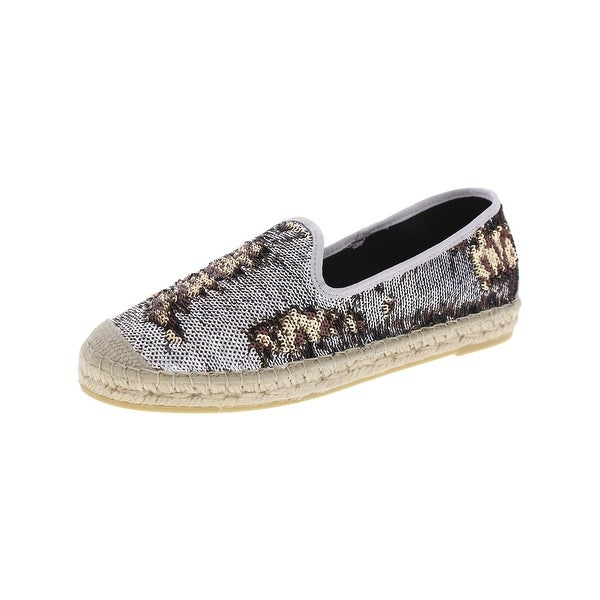 Vidorreta Womens Simon Fashion Loafers Sequined Espadrille - 38 medium (b,m)