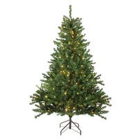 6' Pre-Lit Canadian Pine Artificial Christmas Tree - Candlelight LED Lights - Green