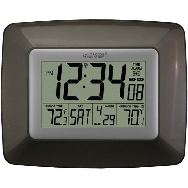 La Crosse Technology Ws-8119U-It-Cho Atomic Digital Clock With Indoor/Outdoor Temperature (Black)