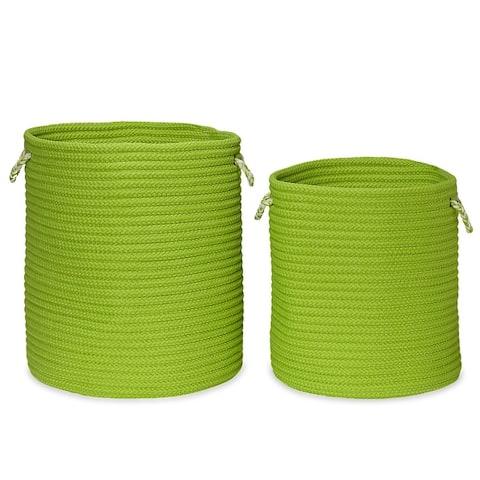 Indoor/Outdoor Sundance Woven Hamper Baskets 8-colors Size-Sm/Lrg
