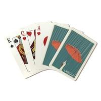 Oregon - Umbrella - Letterpress - LP Artwork (Poker Playing Cards Deck)