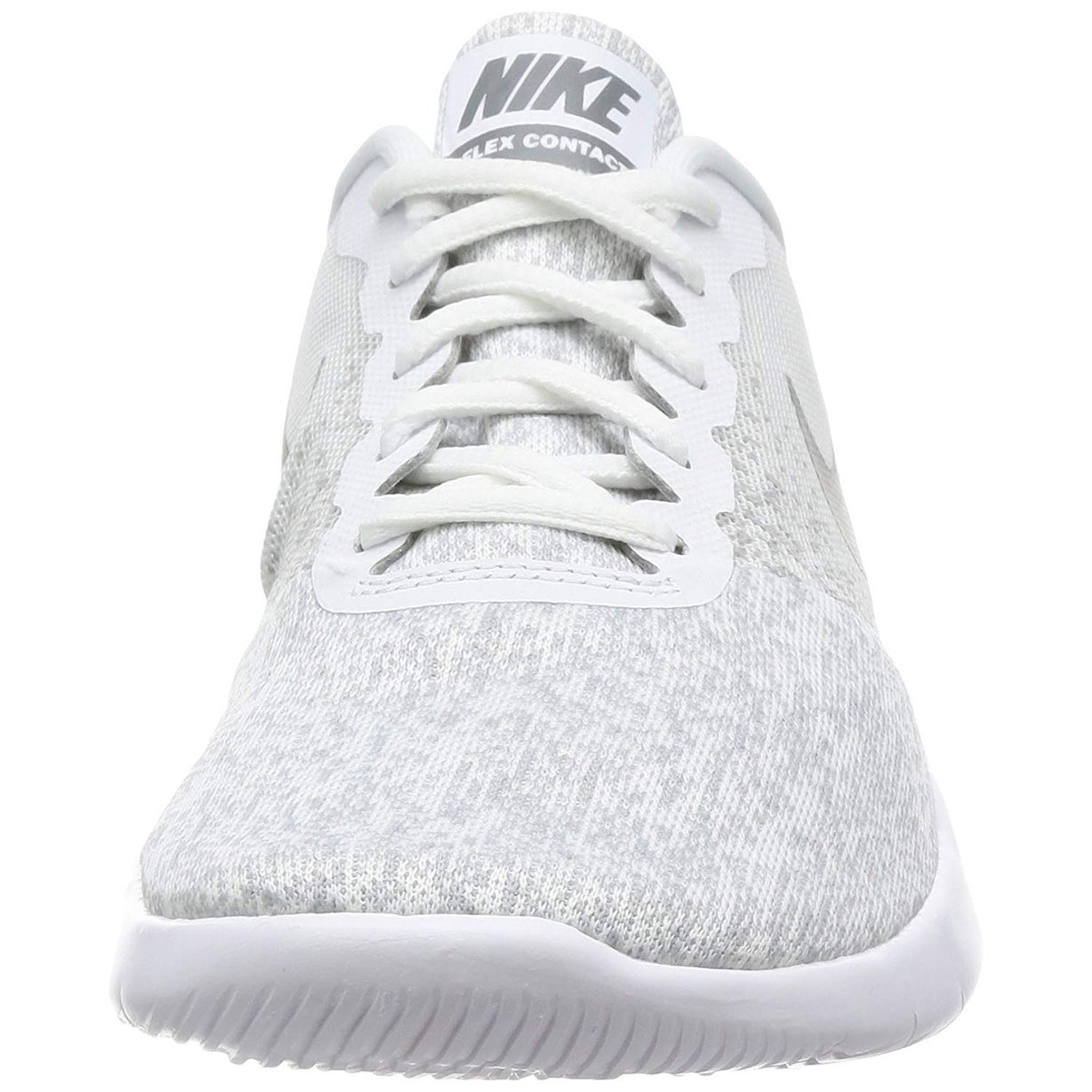 e335edea0209f Nike Women Flex Contact Running Shoe (8 B(M) Us, White/Cool Grey-Metallic  Silver)