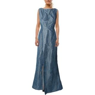 ML Monique Lhuillier Womens Evening Dress Textured Glitter