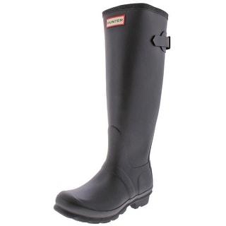 Hunter Women's Original Back Adjust Rain Boots Black Size 9