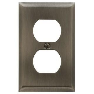 Baldwin 4752.CD Beveled Edge Solid Brass Single Duplex Switchplate - N/A