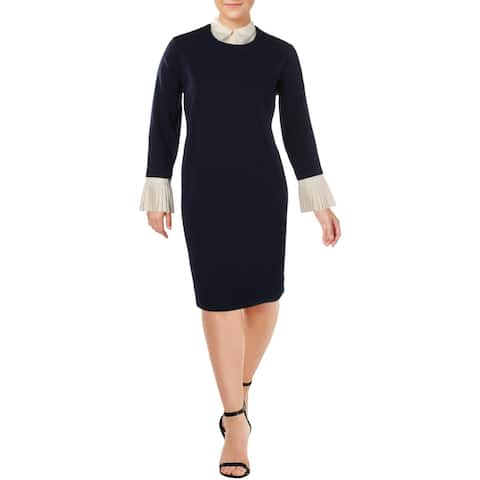 Lauren Ralph Lauren Womens Stepania Wear to Work Dress Office Layered