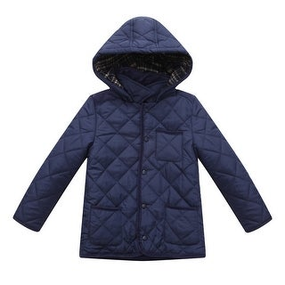 Richie House Boys' quilting padded jacket with corduroy fabric details