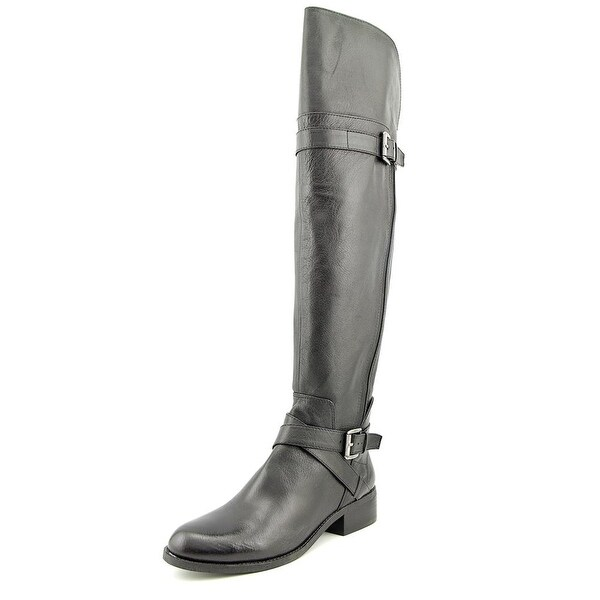 Nine West Possesso Women Round Toe Leather Over the Knee Boot