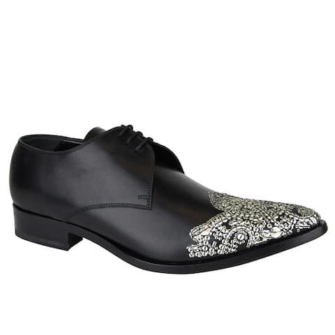 Alexander McQueen Men's Oxfords Black Leather Dress Shoes 462799