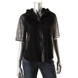 Elie Tahari Womens Caitlin Athletic Zipper Front Jacket - XS