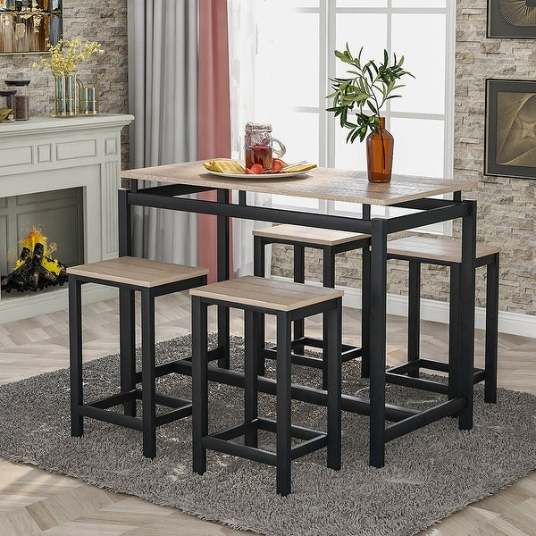 moda 5piece kitchen counter height table set industrial