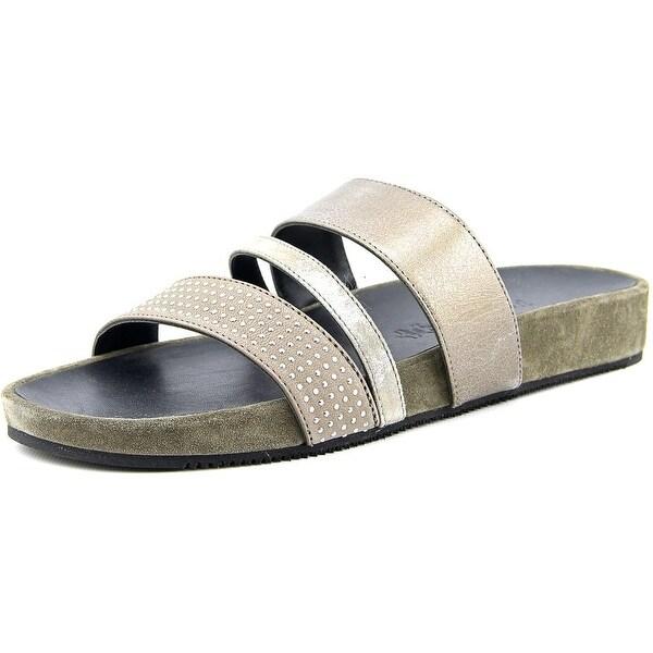 Paul Green Delight Women Open Toe Leather Slides Sandal