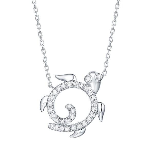 Smiling Rocks 0.23Ct G-H/VS1 Lab Grown Diamond Sea Turtle Necklace