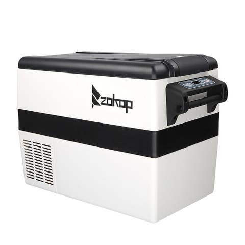 ZOKOP Car Refrigerator, Portable Freezer Cooler, with Handles Black & Light Gray