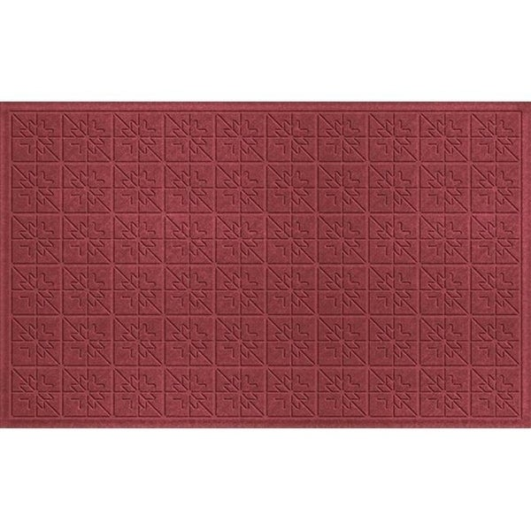 843550024 Water Guard Star Quilt Mat in Red/Black - 2 ft. x 4 ft. ft.