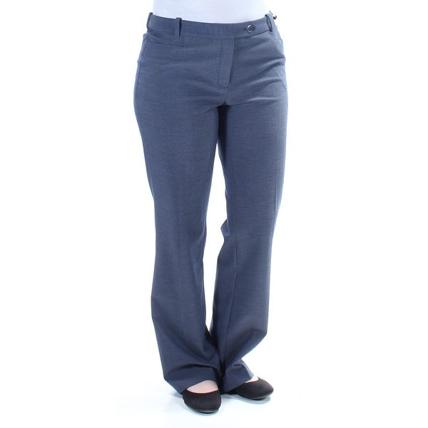 CALVIN KLEIN $66 Womens New 1176 Navy Straight leg Wear To Work Pants 6 B+B