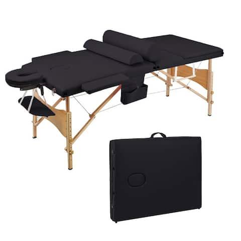 Saloniture Folding Portable SPA Massage Table Set