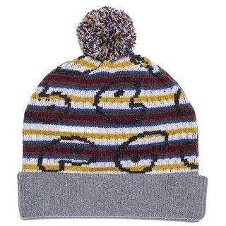 MARC By MARC JACOBS Finsbury Knit Pom Hat Gray Multi-Color One Size Beanie