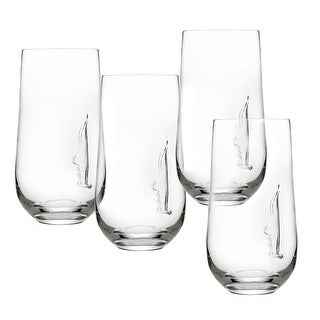 Silhouette Highball Glasses Set - Set Of 4 - Lead-Free Crystal