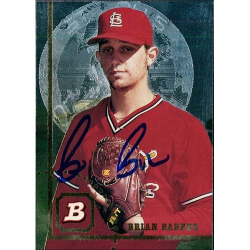 Signed Barber Brian St Louis Cardinals 1994 Topps Baseball Card Autographed