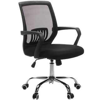 Adjustable Office Chair/ Mesh Chair/ Task Chair/Modern Chair with Mid Lumbar Support,360 Swivel|https://ak1.ostkcdn.com/images/products/is/images/direct/b89601390524606d4a617ed425b9b8758d75048d/Modern-Adjustable-Mid-black-Mesh--Office-Chair-360-Swivel-Task-Chair.jpg?impolicy=medium