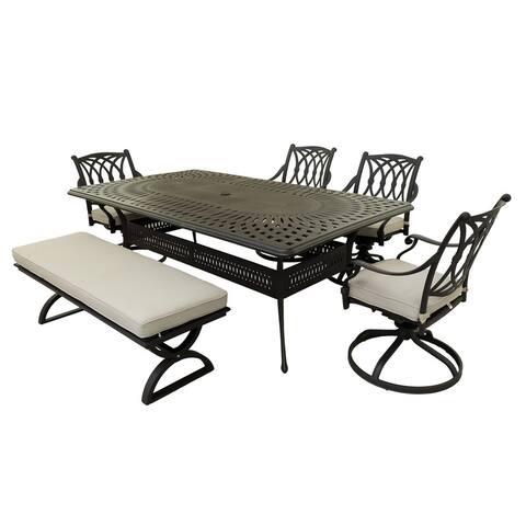 Marina Marieville 6 Piece outdoor Aluminum Dining Set
