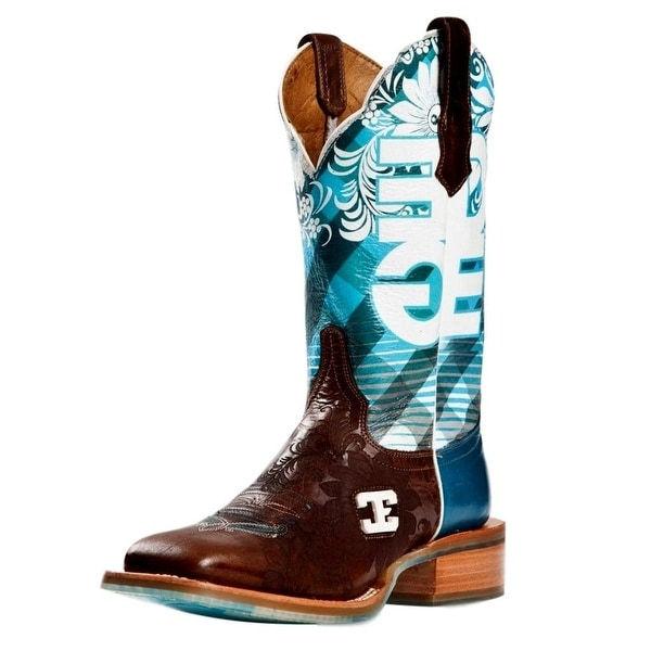Cinch Western Boots Womens Cowboy Malibu Graphic Print Brown