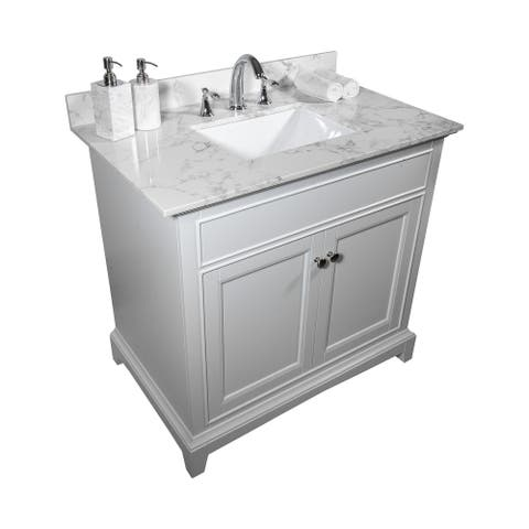 TiramisuBest 31''x22''bathroom vanity tops with sink and back splash