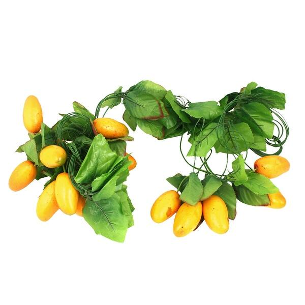 Artificial Faux Fake Mango Fruit House Kitchen Party Decor Green Yellow 5pcs