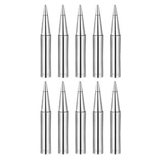 Soldering Iron Tips Replacement for Solder Station Tip 900M-T-1.0B 10pcs - Silver - 900M-T-1.0B 10pcs