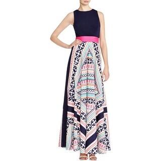 Eliza J Womens Maxi Dress Matte Jersey Pattern