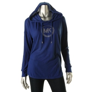 MICHAEL Michael Kors Womens Knit Embellished Hoodie - M