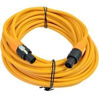 SEISMIC AUDIO 12 Gauge 50 Foot Orange Speakon to Speakon Speaker Cable 50'