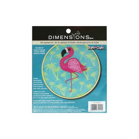 "Dimensions Felt Applique Kit 6"" LAC Tropic Flamigo"