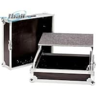 YCS TBH19MIXLT 19 in. DeeJay LED 10 RU DJ Mixer Case with Laptop Shelf