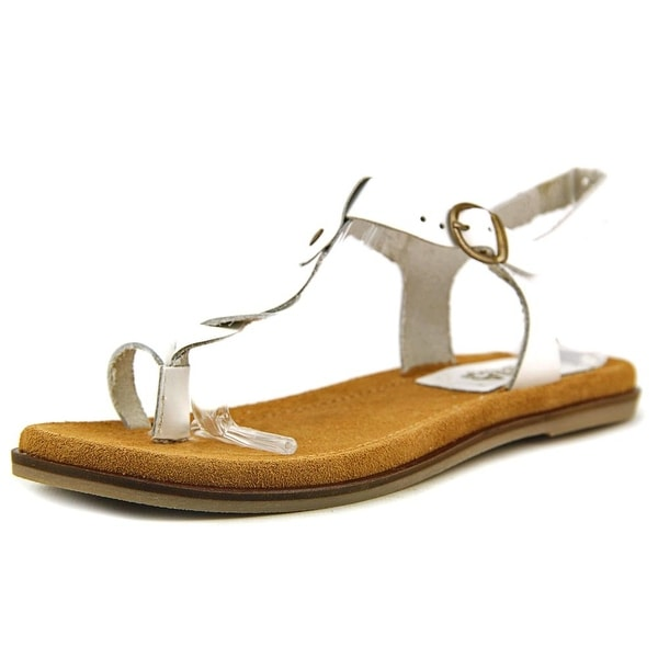 Mia Heritage Pompeii Women Open Toe Leather White Thong Sandal