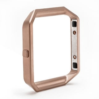 Replacement Accessory Fitbit Blaze Frame Stainless Steel Metal Watch Shell Rose-Golden