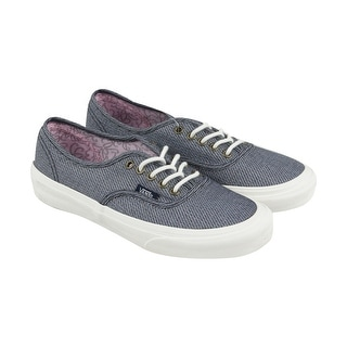Vans Authentic Slim Mens Blue Canvas Lace Up Sneakers Shoes